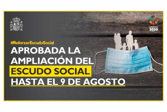 Ampliación del escudo social hasta el 9 de agosto