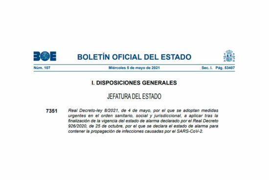 Real Decreto - ley 8/2021