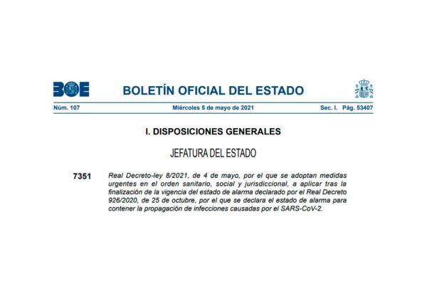 Real Decreto-ley 8/2021
