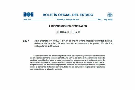 Real Decreto-ley 11/2021