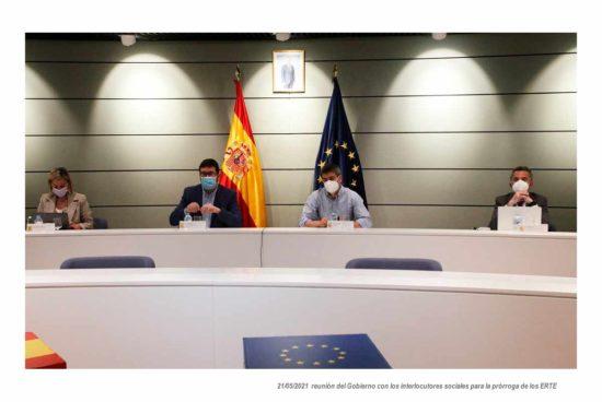Negociaciones para la prórroga de los ERTE 21 de mayo de 2021
