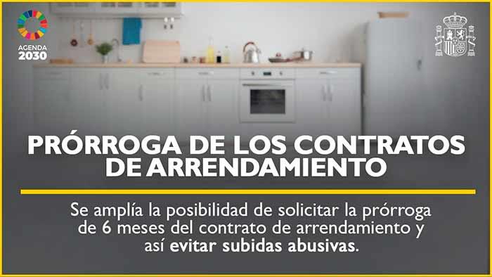 Prórroga de los contratos de arrendamiento de vivienda