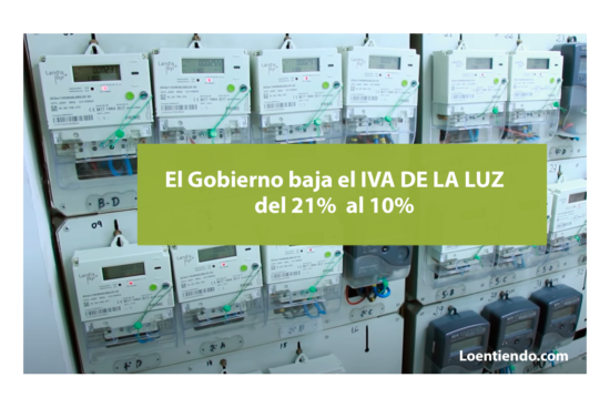Bajada IVA luz al 10%