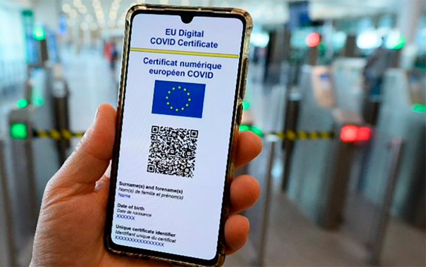 Certificado Covid para poder viajar por la Unión Europea