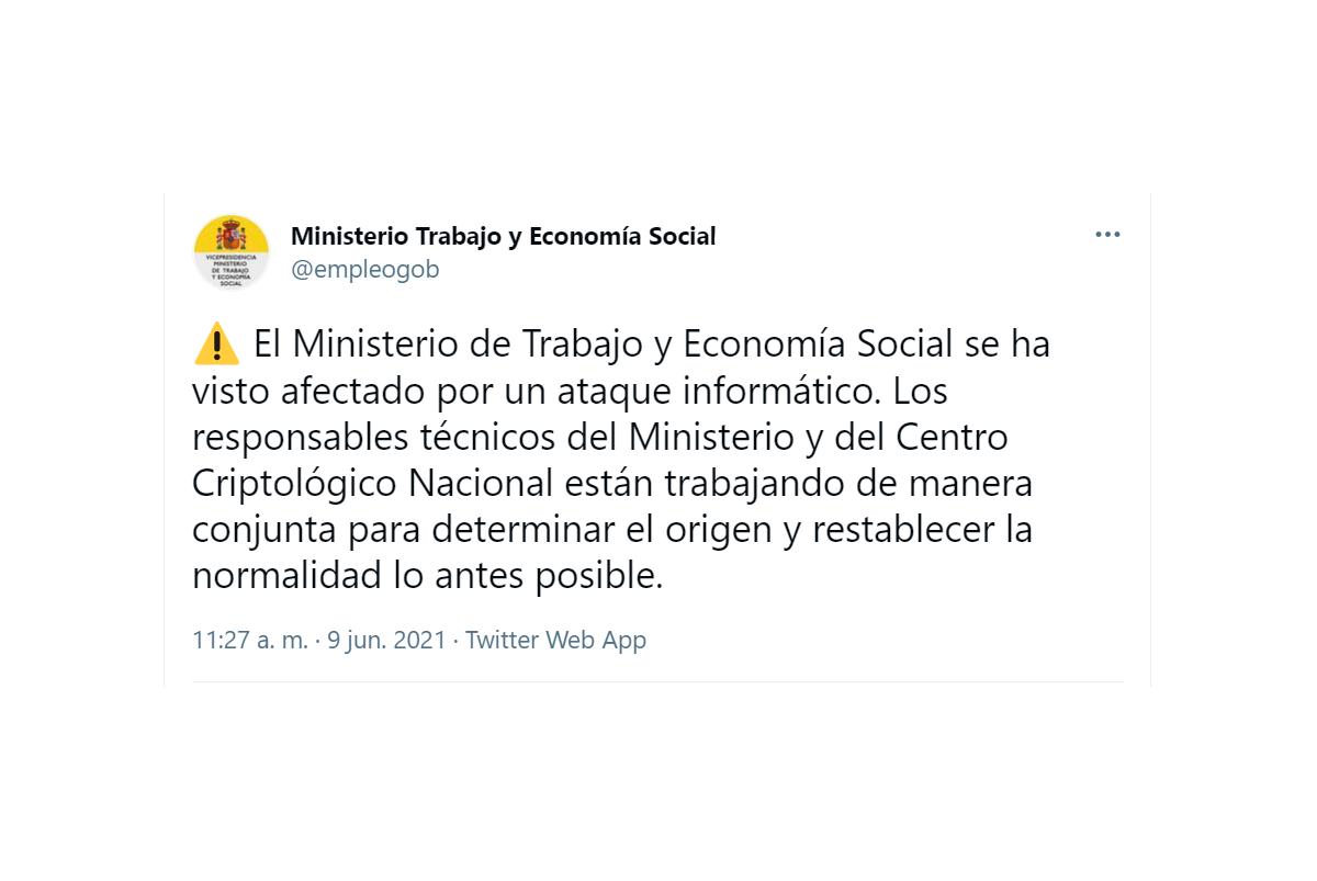 Ataque informático en el Ministerio de Trabajo