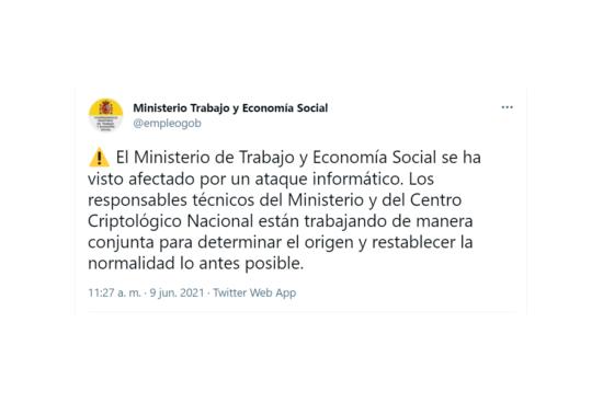 Ataque informatico ministerio de trabajo