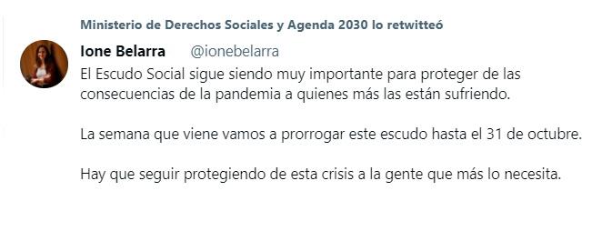 prórroga escudo social