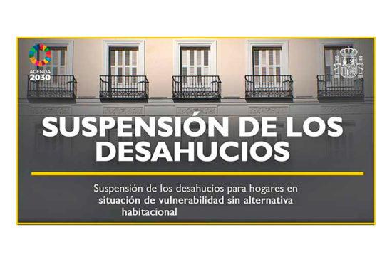 Prorrogada la suspensión desahucios