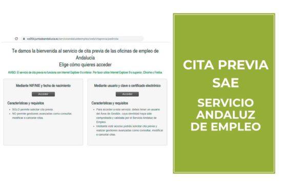 Cita previa Servicio Andaluz de Empleo