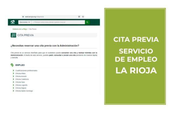 Cita previa Servicio de Empleo y Formación en La Rioja