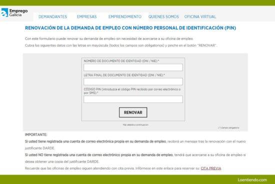 Guía para sellar el paro por internet en Galicia