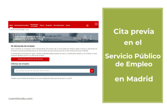 Cómo pedir cita previa en el Servicio de Empleo de la Comunidad de Madrid