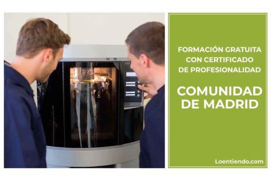 Formación gratuita en la Comunidad de Madrid