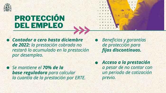 Protección para trabajadores en ERTE