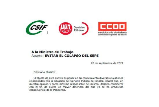 Los sindicatos denuncian el colapso del SEPE