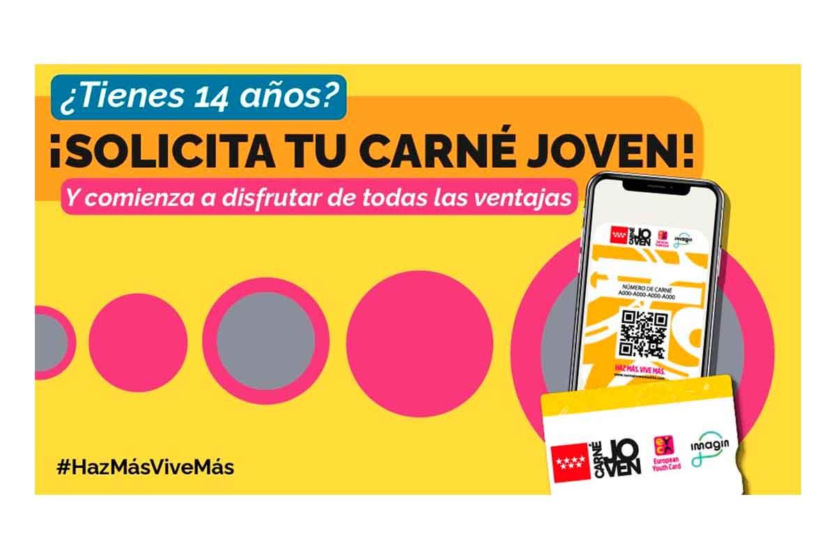 Solicitar el carnet joven en la Comunidad de Madrid