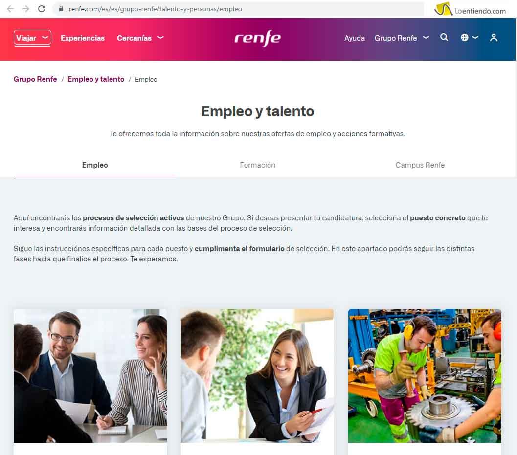 Trabaja con nosotros en RENFE