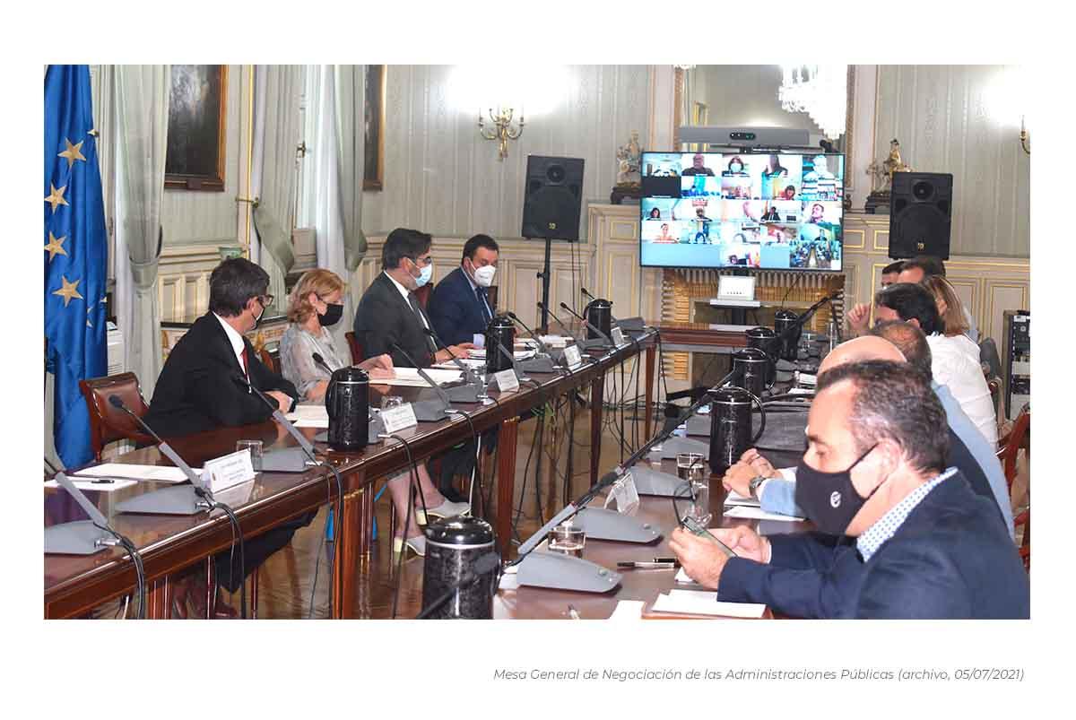 Mesa de negociación Administraciones Públicas